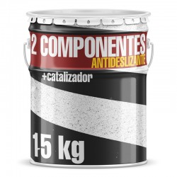 Pintura Dos Componentes Manual Antideslizante Blanca 15 kg + catalizador 250 Gr. (Polvo)