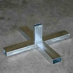 Base cruceta para poste de señal 80mm - Galvanizado