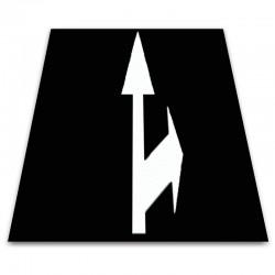 Alfombra circuito vial flecha bidireccional derecha