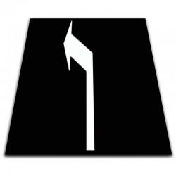 Alfombra señales imitación asfalto -100 x 100 cm-Flecha izquierda