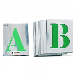 """Pack 26 Plantillas metálicas señalización Letras """"A-Z"""""""