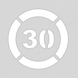 Plantilla pintar señal velocidad máxima carril bici
