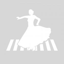 Plantilla pintar señal Paso de Peatones Flamenca Feria de Abril