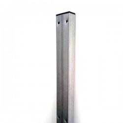 Poste rectangular Std  Galvanizado - 8 x 4 cm - 2m  y Tapón