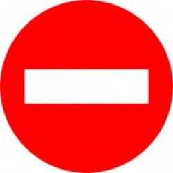 R-101 Entrada prohibida 50 cm