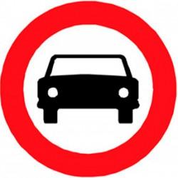 R-103 Entrada prohibida a vehículos de motor 60 cm Reflexivo I