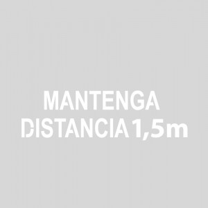 "Plantilla pintar señal ""Mantenga distancia 1,5 m"""