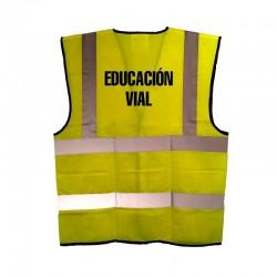 Chaleco alta visibilidad adulto educación vial