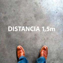 """Plantilla pintar señal """"distancia 1,5 m"""""""
