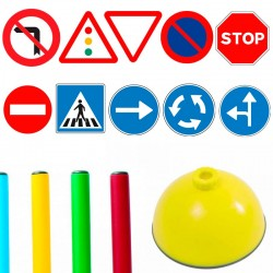 Pack 10 señales Aula infantiles de Tráfico