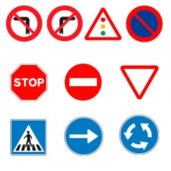 Pack 10 señales (sin Postes) Infantiles 33 cm