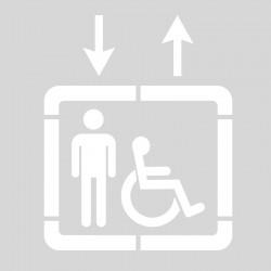 Plantilla señalización ascensor