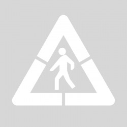 Plantilla pintar señal p-20 Peatones