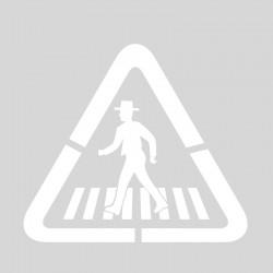 """Plantilla pintar señal p-20 Paso de Peatones """"flamenco"""""""
