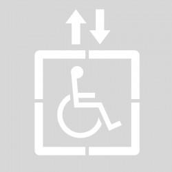 Plantilla pintar señal acceso discapacitados ascensor
