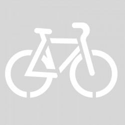Plantilla pintar y marcar señal ciclista carril bici