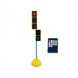 Semáforo con control remoto mixto con base y pica 1,20 cm