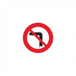 Señal para Educación Vial - Prohibido giro