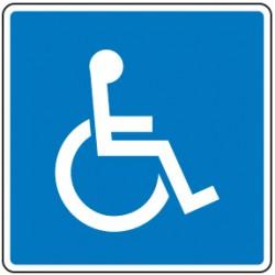 S-min Plaza Reservada para Discapacitados - Acero galvanizado - 60 - Reflexivo I