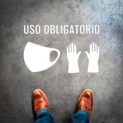 Plantilla pintar señal uso obligatorio mascarilla y guantes (Default)