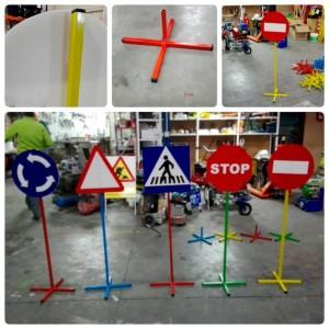 Pack 10 señales Circuito Color Educación Vial