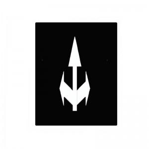 Alfombra circuito vial flecha tridireccional