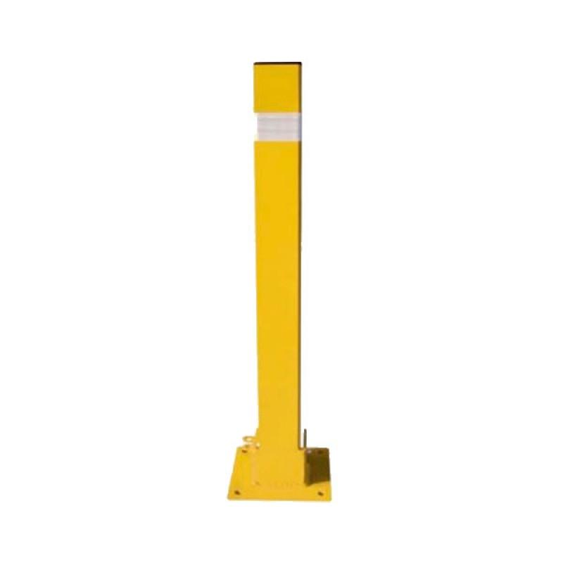 Hito Fijo - Pilona Metálica - 8 x 8 x 80 cm - Amarillo