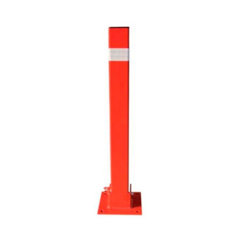 Hito Fijo - Pilona Metálica - 8 x 8 x 80 cm - Roja