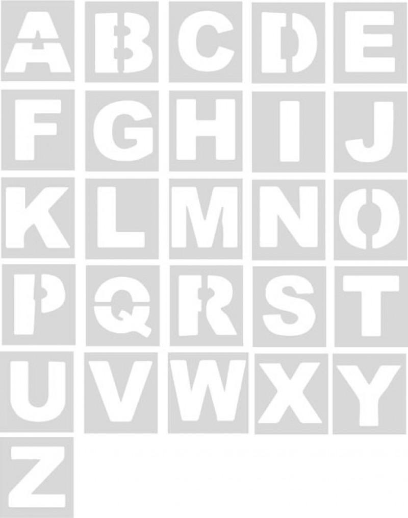 Plantillas abecedario (unidad) Pol 30cm