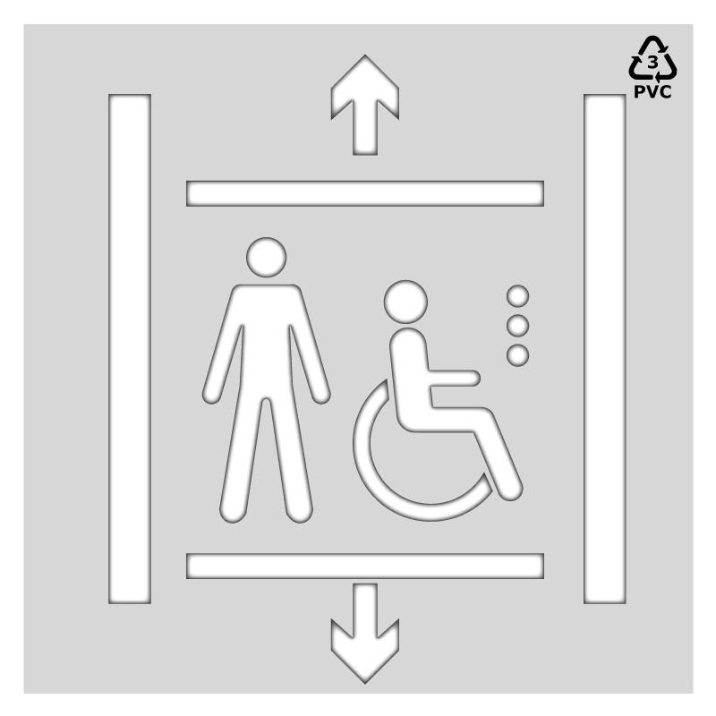 Plantilla rotulación señal accesibilidad acceso accensor