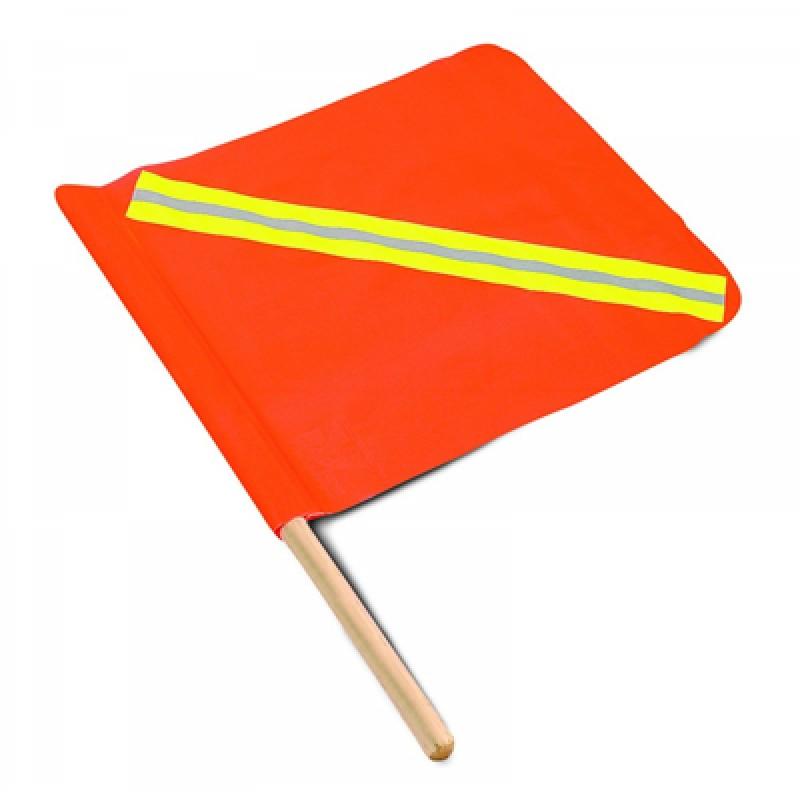 Kit bandera XL naranja (X en amarilla) + mástil 2,44
