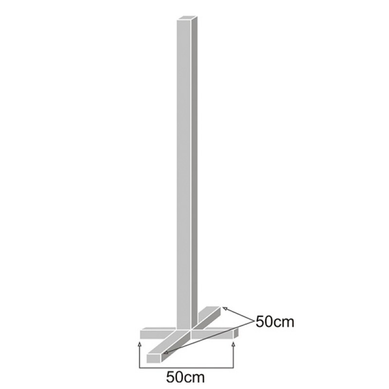 Base cruceta para poste de señal 80mm - Galvanizado y tapones