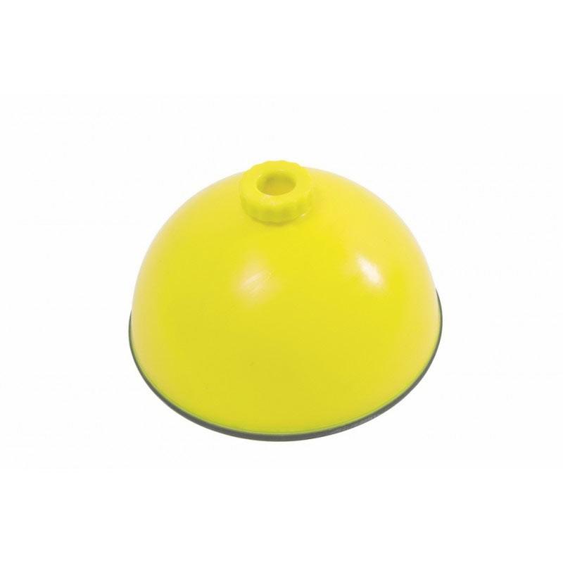 Base rellenable antideslizante amarilla 24 cm