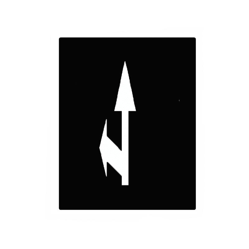 Alfombra marca vial con flecha bidireccional derecha