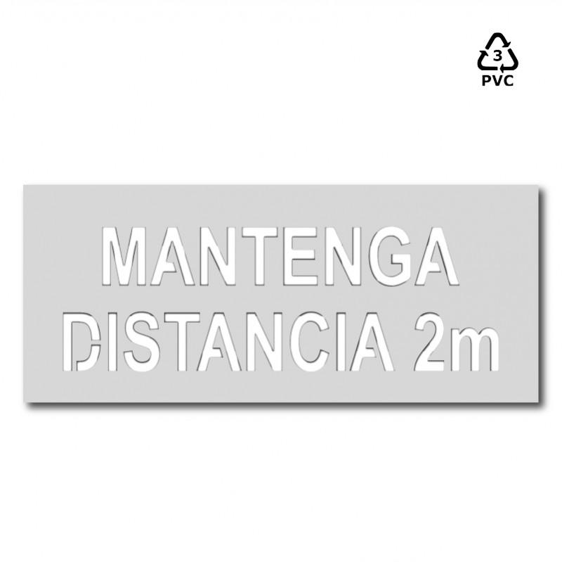 "Plantilla señalización ""Mantenga distancia 2 m"" coronavirus"