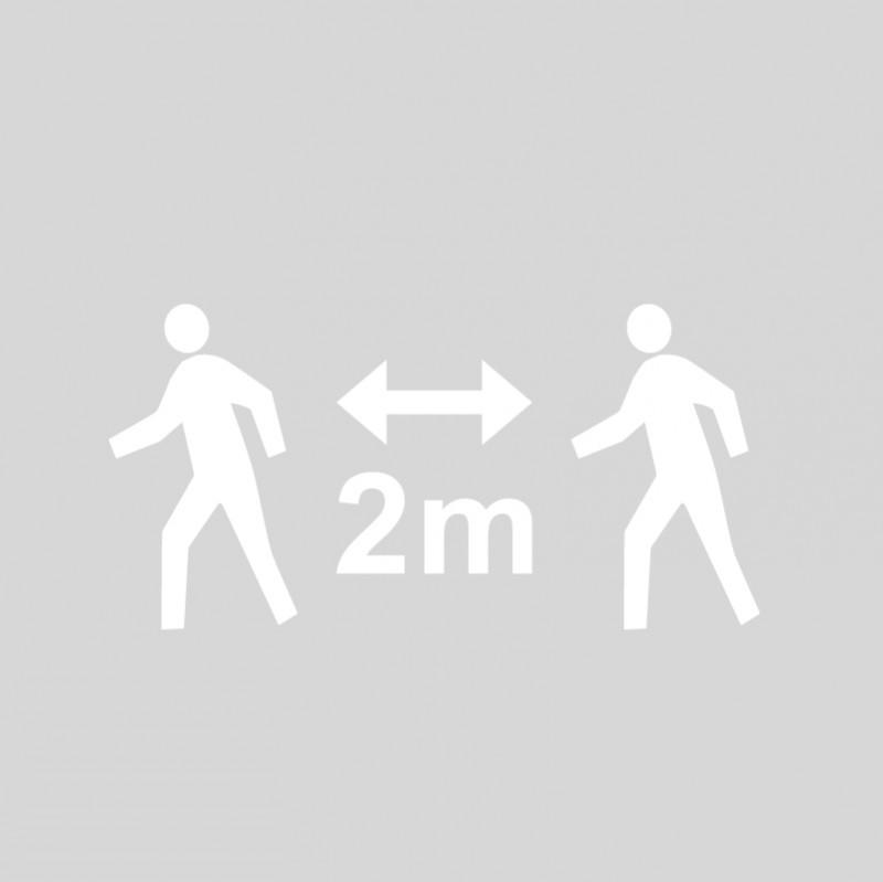 Plantilla pintar señal 2 metros entre peatones
