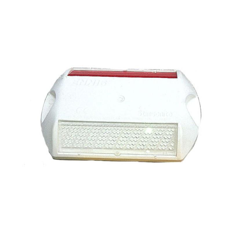 Captafaros definitivo blanco, Reflex. 2 caras (amarillo/blanco)