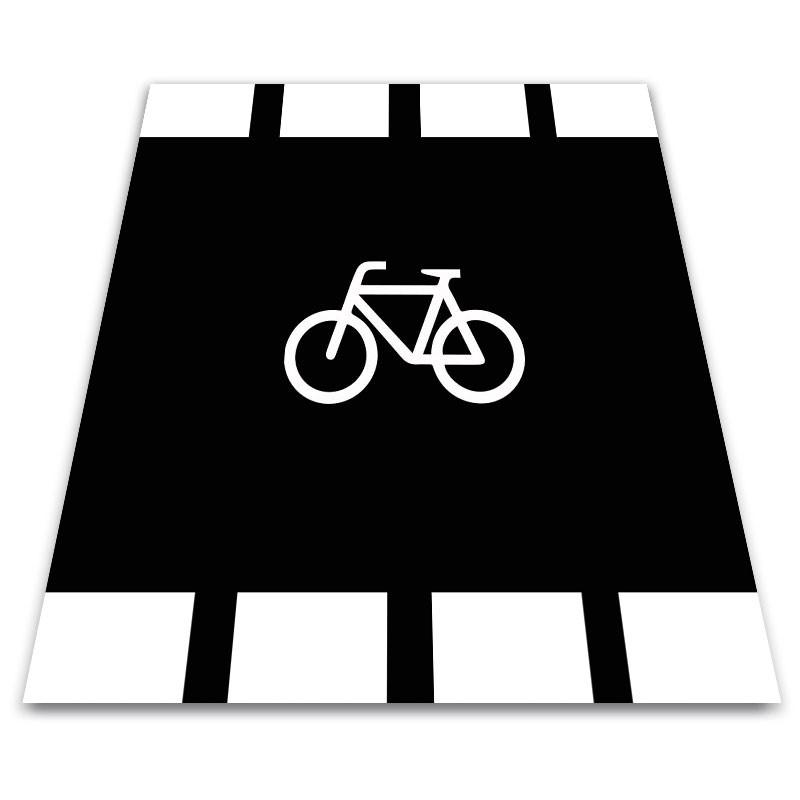 Alfombra marca vial Paso de Carril Bici