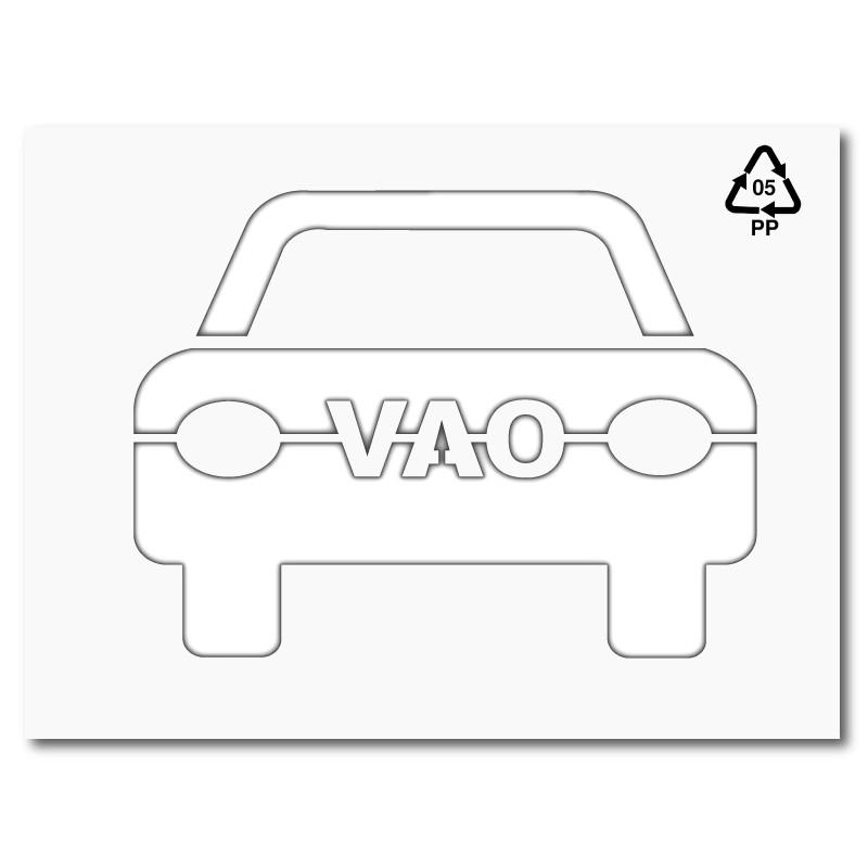 Plantilla para pintar símbolo carril VAO