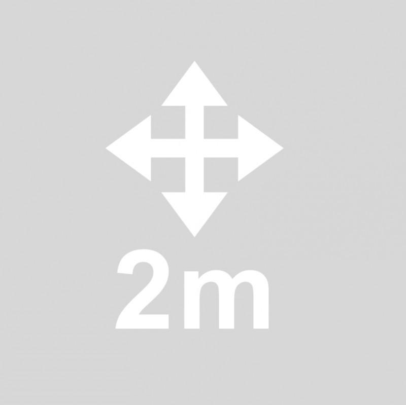 Plantilla pintar señal flecha 2m distnaciamiento fisico