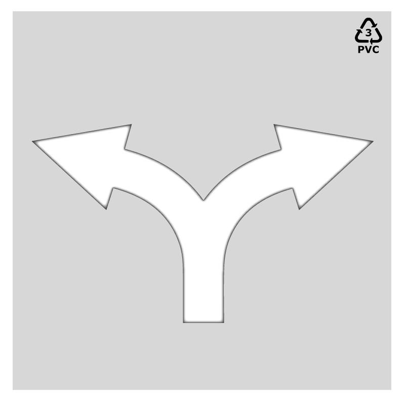 Plantilla rotulación parking flecha cruce 2 direcciones