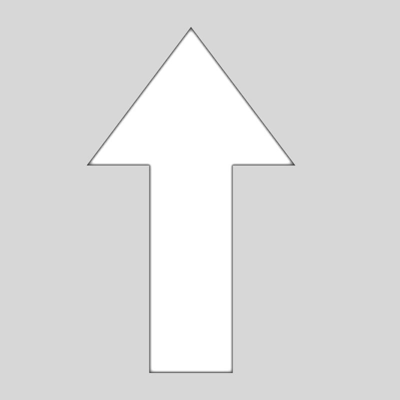 Plantilla pintar flecha dirección en parking