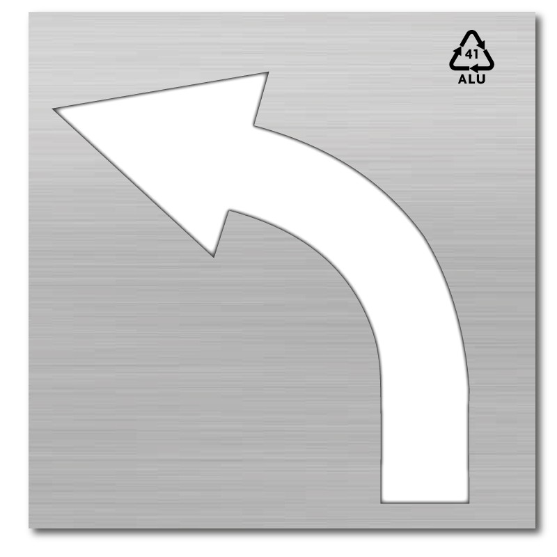Plantilla rotulación parking flecha dirección única izquierda