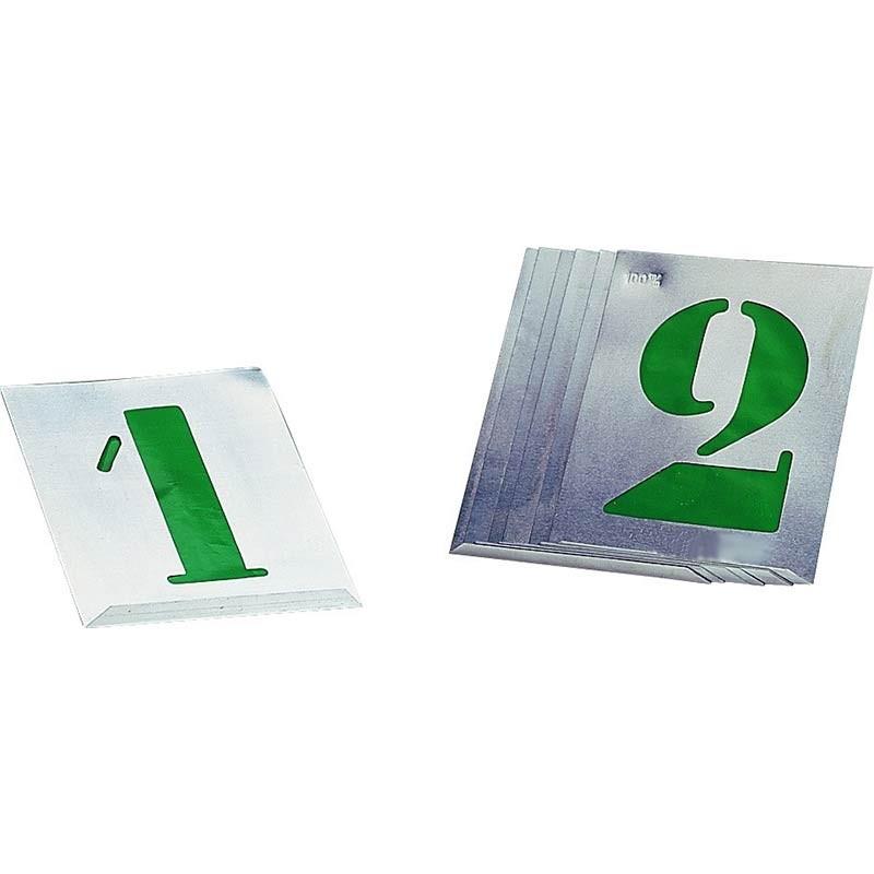 """Kit 10 Plantillas metal números """"0-9"""" 10cm-12cm-15cm-20cm-30cm"""