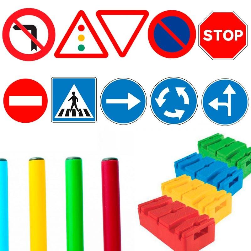Pack 10 señales Basic Educación Vial Infantil