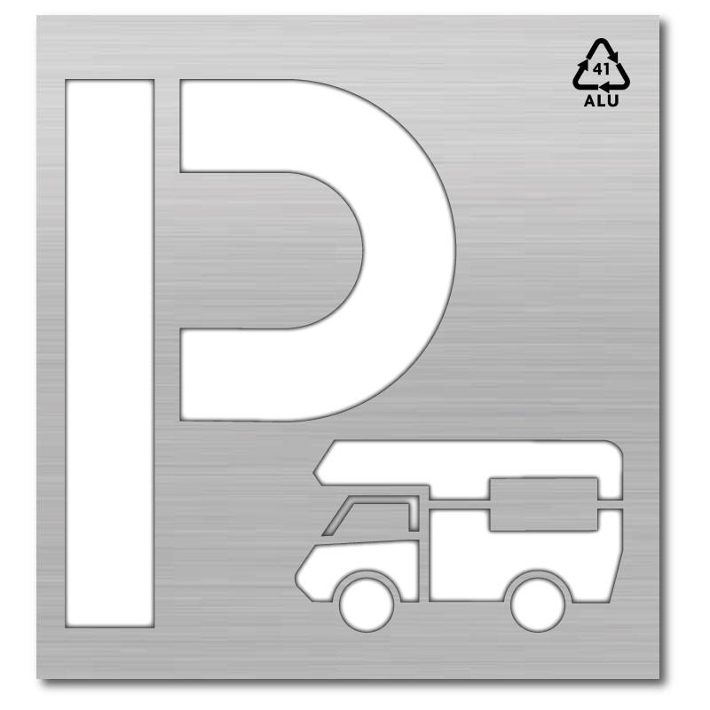 Plantilla rotulacion senal P parking caravana