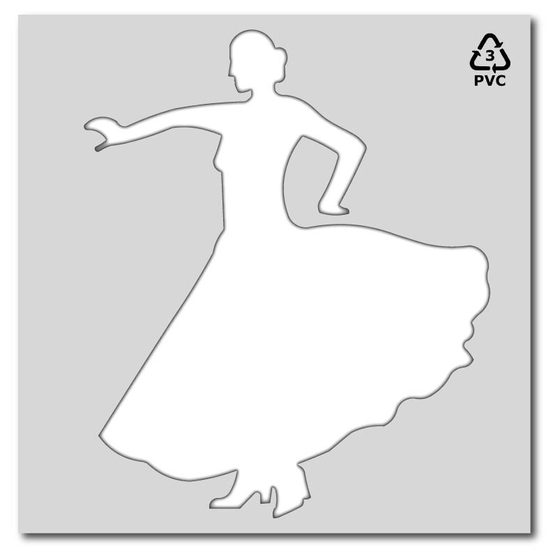 Plantilla pintar señal Peatón Flamenca Feria de Abril