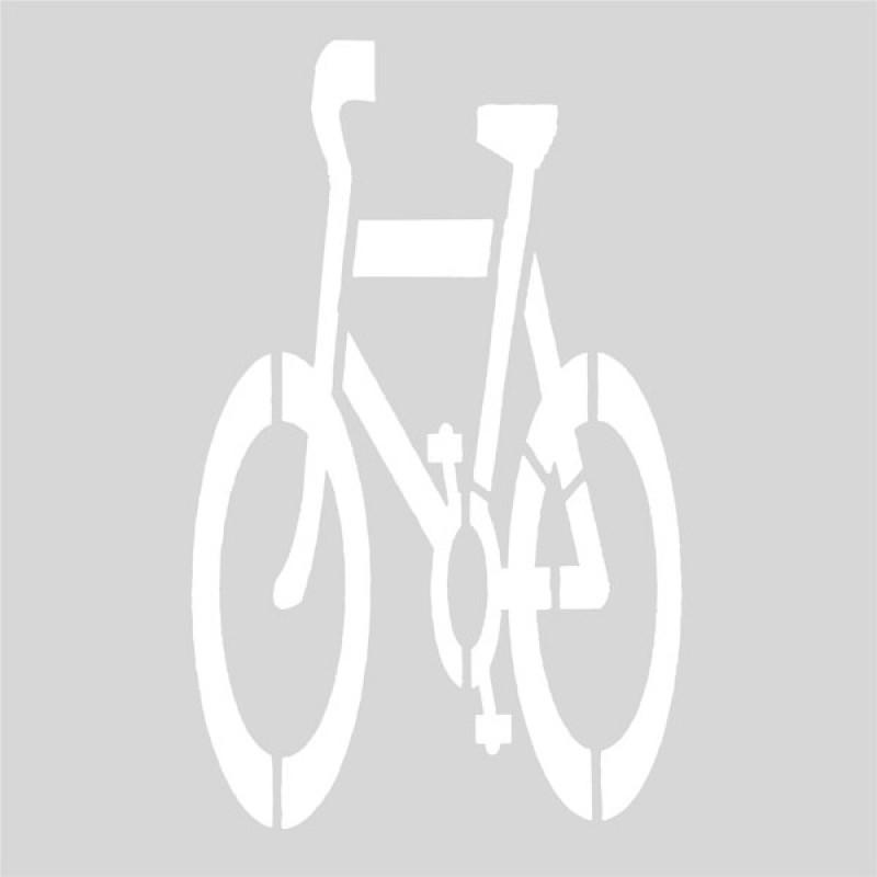 Plantilla pintar ciclista carril bici
