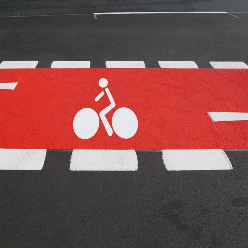 Simbolo bicicleta carril bici