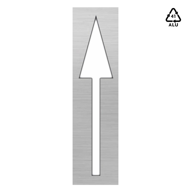 Plantilla flecha direccional frente